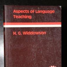 Libros de segunda mano: ASPECTS OF LANGUAGE TEACHING.. Lote 195228940