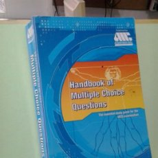 Libros de segunda mano: LMV - HANDBOOK OF MULTIPLE CHOICE QUESTIONS. TEXTO EN INGLES. Lote 195271386