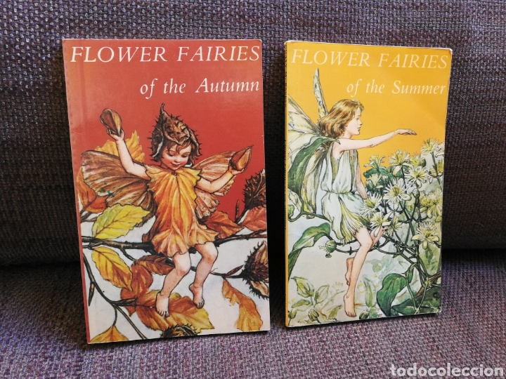 LOTE 2 LIBRITOS FLOWER FAIRIES DE CICELY MARY BARKER. EN INGLÉS (Libros de Segunda Mano - Otros Idiomas)