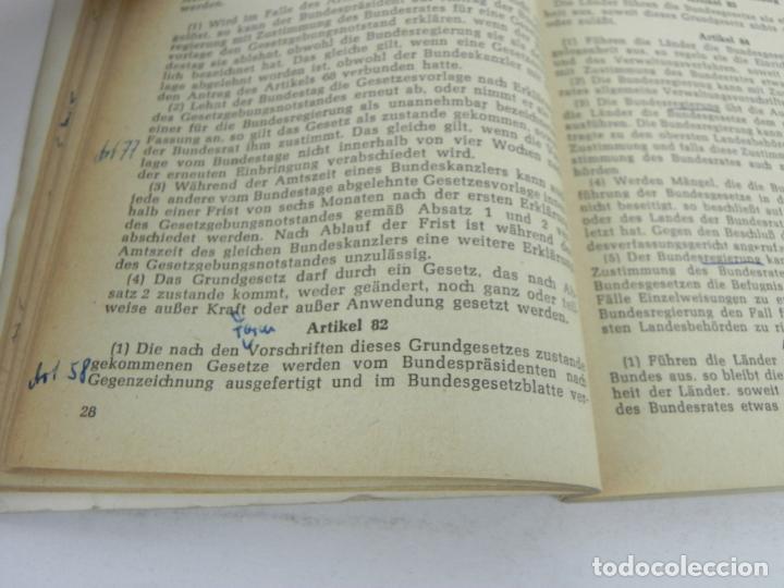 Libros de segunda mano: GRUNDGESETZ FÜR BUNDESREPUBLIK DEUTSCHLAND (CONSTITUCION PARA LA REP. FED. ALEMANA) - Foto 6 - 195365803