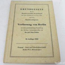 Libros de segunda mano: GRUNDGESETZ FÜR BUNDESREPUBLIK DEUTSCHLAND (CONSTITUCION PARA LA REP. FED. ALEMANA). Lote 195365803