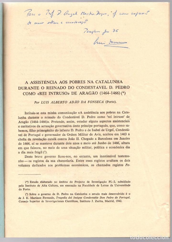 Libros de segunda mano: A ASSISTÊNCIA AOS POBRES NA CATALUNHA DURANTE O REINADO DO CONDESTÁVEL D. PEDRO DE ARAGÃO (1464-1466 - Foto 2 - 195367752