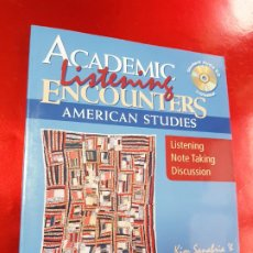 Libros de segunda mano: LIBRO-ACADEMIC LISTERING ENCOUNTERS-AMERICAN STUDIES-CD-SANABRIA & SANABRIA-NUEVO-VER FOTOS. Lote 195500366