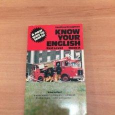 Libros de segunda mano: KNOW YOUR ENGLISH. Lote 197062341