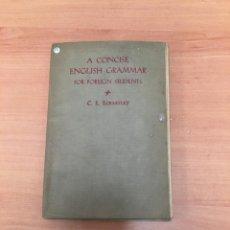 Libros de segunda mano: A CONCISE ENGLISH GRAMMAR. Lote 197062371