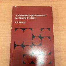 Libros de segunda mano: A REMEDIAL ENGLISH GRAMMAR. Lote 197062376