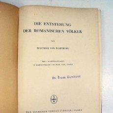 Libros de segunda mano: WALTHER VON WARTBURG. DIE ENTSTEHUNG DER ROMANISCHEN VOLKER. 1939. LINGUISTICA. Lote 197131077