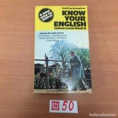 Libros de segunda mano: KNOW YOUR ENGLISH. Lote 197150220
