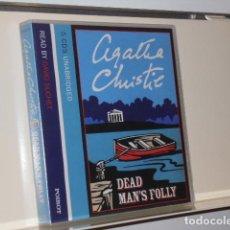Livros em segunda mão: AUDIOBOOK AGATHA CHRISTIE DEAD MAN'S FOLLY 5 CDS UNABRIDGED READ BY DAVID SUCHET - HARPER. Lote 197719006