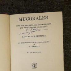 Libros de segunda mano: MUCORALES 1969 EINE BESCHREIBUNG ALLER GATTUNGEN UND ARTEN DIESER PILZGRUPPE . Lote 197719295