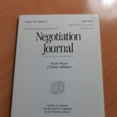 Libros de segunda mano: NEGOTIATION JOURNAL. VOLUME 18, NUMBER 2 (APRIL 2002). Lote 198149833