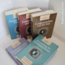 Libros de segunda mano: FUNDAMENTALISMS OBSERVED AND 4 VOLUMES. MARTIN E. MARTY, R. SCOTT APPLEBY. CHICAGO AND LONDON. . Lote 198518895