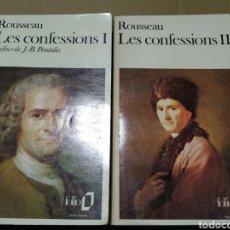 Libros de segunda mano: LES CONFESSIONS. ROUSSEAU. 1973. 2 TOMOS TEXTO COMPLETO. Lote 198844188
