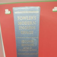 Libros de segunda mano: FOWLER'S MODERN ENGLISH USAGE (2ND ED) 1965. Lote 199199930