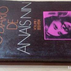 Libros de segunda mano: O DIARIO DE ANAIS NINVOLUME I 1931 - 1934EM PORTUGUESÓ -102. Lote 199433916