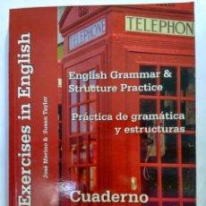 Libros de segunda mano: ENGLISH GRAMMAR AND STRUCTURE PRACTICE / PRÁCTICA DE GRAMÁTICA Y ESTRUCTURAS. ANGLO 9788486623839. Lote 200891085