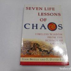Libros de segunda mano: JOHN BRIGGS AND F. DAVID PEAT SEVEN LIFE LESSONS OF CHAOS ( EN INGLÉS) Q432W. Lote 201898916