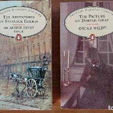 Libros de segunda mano: THE ADVENTREES OF SHERLOCK HOLMES – THE PICTURE OF DORIAN GRAY – 2 LIBROS - SIR ARTHUR CONAN DOYLE. Lote 202850138