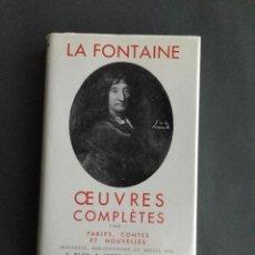 Libros de segunda mano: LA FONTAINE - OUEVRES COMPLÉTES - 2 VOL - BIBLIOTHÉQUE PLÉIADE - FRANCÉS. Lote 203452843