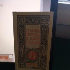 Libros de segunda mano: DANTE ALIGHIERI. LA DIVINA COMMEDIA. HOEPLI, MILANO 1988. Lote 205533248