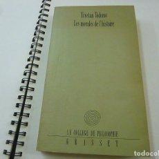 Libros de segunda mano: TZVETAN TODOROV - LES MORALES DEL HISTORIE - N 8. Lote 207125776