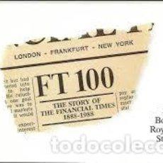 Libros de segunda mano: BOOKLET STAMPS STORY OF FINANCIAL TIMES 1988. GREAT BRITAIN. LIBRO DE SELLOS. Lote 207939440