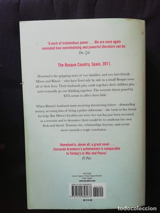 Libros de segunda mano: HOMELAND - FERNANDO ARAMBURU - ENGLISH - (PATRIA EN INGLÉS) - Foto 2 - 209119815
