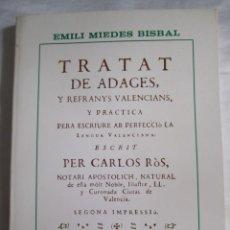 Libros de segunda mano: REFRANES VALENCIANOS - REPRODUCCIÓN DE 1736 - LEER DESCRIPCION. Lote 209208167