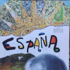 Libros de segunda mano: DISEÑO GRÁFICO EN ESPAÑA, EN INGLÉS, BALANCE EN 1995. Lote 209647760
