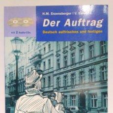 Libros de segunda mano: DER AUFTRAG + 2 AUDIO-CDS, ENZENSBERGER Y EISMANN. LANGENSCHEIDT (ALEMÁN) 9783468498107. Lote 209957997