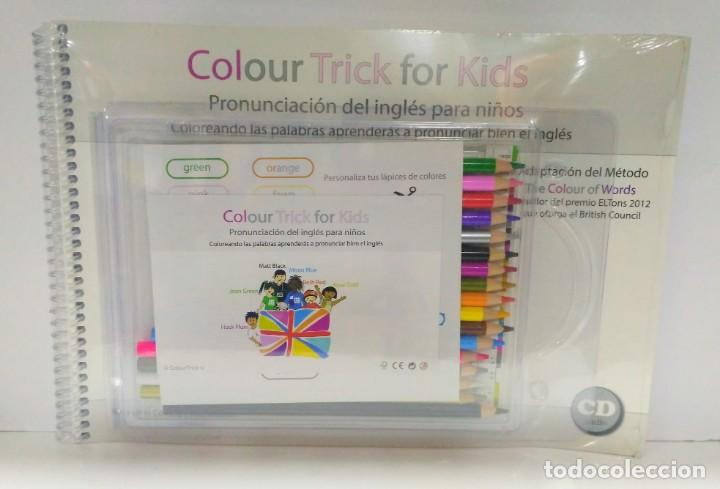 COLOUR TRICK FOR KIDS + CD + LÁPICES. PRONUNCIACIÓN DEL INGLÉS PARA NIÑOS 9788493975920 (Libros de Segunda Mano - Otros Idiomas)