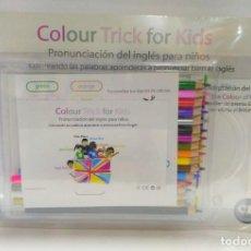 Libros de segunda mano: COLOUR TRICK FOR KIDS + CD + LÁPICES. PRONUNCIACIÓN DEL INGLÉS PARA NIÑOS 9788493975920. Lote 211417637