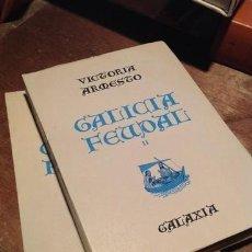 Libros de segunda mano: GALICIA FEUDAL. .VICTORIA ARMESTO. EDITORIAL GALAXIA. 1969 . 2 TOMOS. . IMPECABLES. Lote 211501949