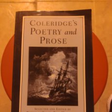 Livros em segunda mão: COLERIDGE'S POETRY AND PROSE. Lote 213121147