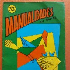 Livros em segunda mão: ACTIVIDADES MANUALES Nº 33. PLEGADO DE CUADRADOS. EDITORIAL MIGUEL A. SALVATELLA. Lote 213604291