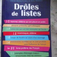Libros de segunda mano: DRÒLES DE LISTES ., LIBRO EN FRANCÉS. Lote 213894146