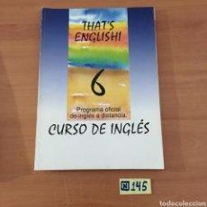 Libros de segunda mano: CURSO DE INGLES. Lote 214173588