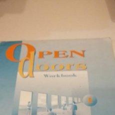 Libros de segunda mano: G-28 LIBRO OPEN DOORS WORKBOOK SIN ESCRIBIR MIKE MACFARLANE NORMAN WHITNEY. Lote 214509280