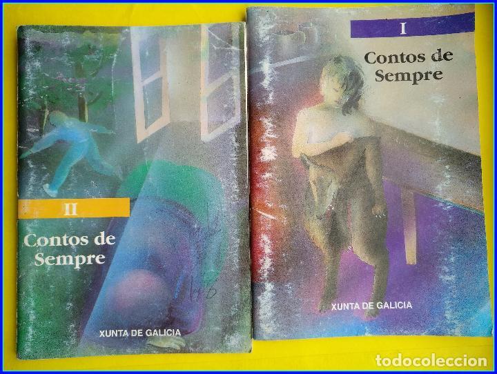 2 MINI LIBROS CONTOS DE SEMPRE I/II. XUNTA DE GALICIA, 1992. CASTELAO, RISCO, DIESTE, OTERO PEDRAYO (Libros de Segunda Mano - Otros Idiomas)