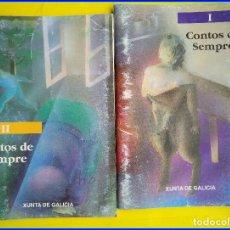 Livros em segunda mão: 2 MINI LIBROS CONTOS DE SEMPRE I/II. XUNTA DE GALICIA, 1992. CASTELAO, RISCO, DIESTE, OTERO PEDRAYO. Lote 214707333