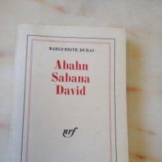 Libros de segunda mano: ABSHN SABANA DAVID / MARGUERITE DURAS 1970 / LENGUA FRANCESA. Lote 214798885