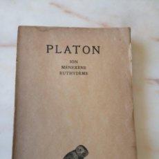 Libros de segunda mano: PLATÓN ION MENEXENE EUTHYDEME / TOMO V 1 PARTE 1931 / LENGUA FRANCESA. Lote 214800645