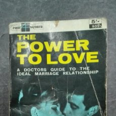 Libros de segunda mano: THE POWER TO LOVE.. Lote 214909620