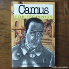 Libros de segunda mano: MAIROWITZ, KORKOS - CAMUS FOR BEGINNERS - 1998 - EN INGLÉS - ILUSTRADO, ABSURDISMO, LITERATURA. Lote 217562778