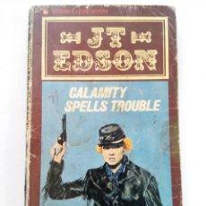 Libros de segunda mano: CALAMITY SPELLS TROUBLE - JT EDSON (EN INGLÉS). Lote 218930552