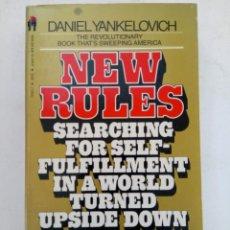 Libros de segunda mano: NEW RULES - DANIEL YANKELOVICH (EN INGLÉS). Lote 218936837