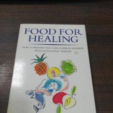 Libros de segunda mano: FOOD FOR HEALING. RACHEL CHARLES. CEDAR. 1995.. Lote 219058240