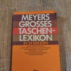 Libros de segunda mano: MEYERS GROSSES TASCHEN-LEXIKON, IN 24 BANDEN (KLAS LAS). Lote 219417562