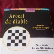 Libros de segunda mano: AVOCAT DU DIABLE. Lote 220953111