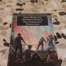 Libros de segunda mano: KARL MARX AND FRIEDRICH ENGELS THE COMMUNIST MANIFESTO. Lote 221006655